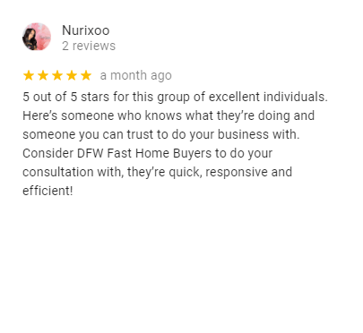 DFW Fast Home Buyers - Fort Worth Homeowner Review